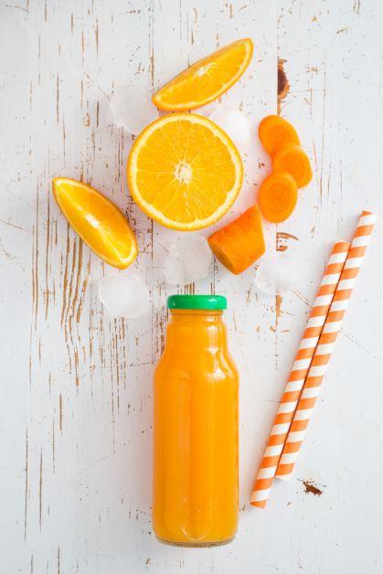 boisson fraîche jus orange carottes