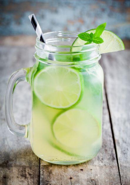 boisson fraîche citronnade menthe