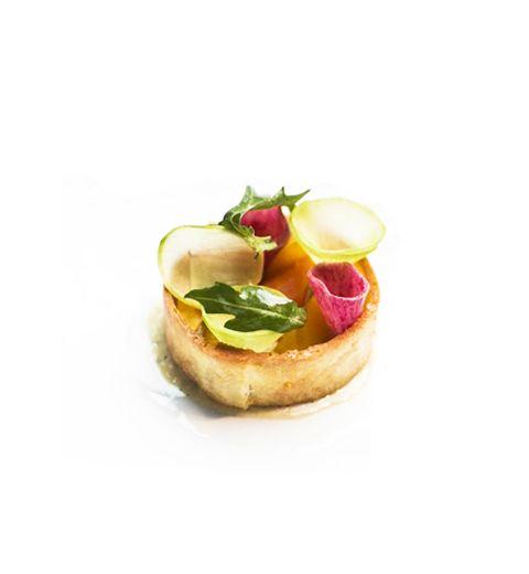 L'entrée froide du chef Thierry Marx : Timbale de légumes cuits à la Badoit, crème Anchovy