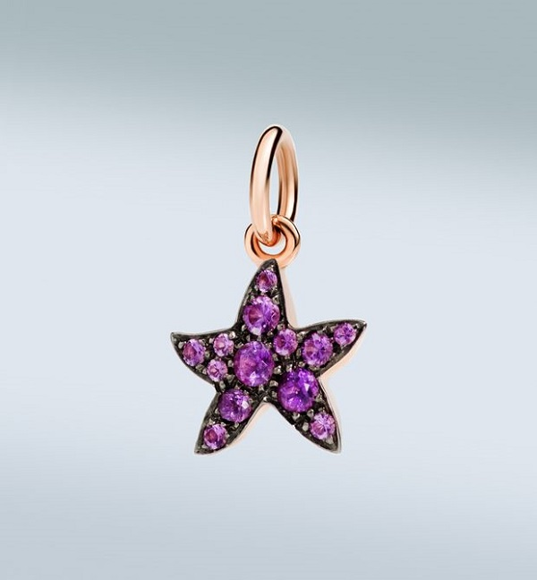 Charm étoile de mer en améthyste : 310€