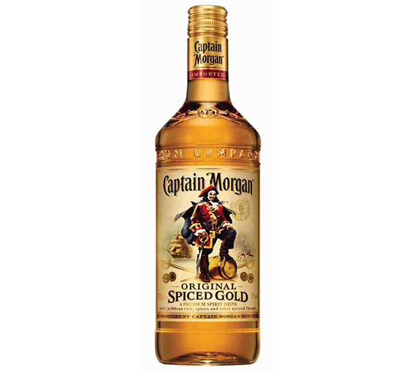 Captain Morgan spiced gold Rum carton