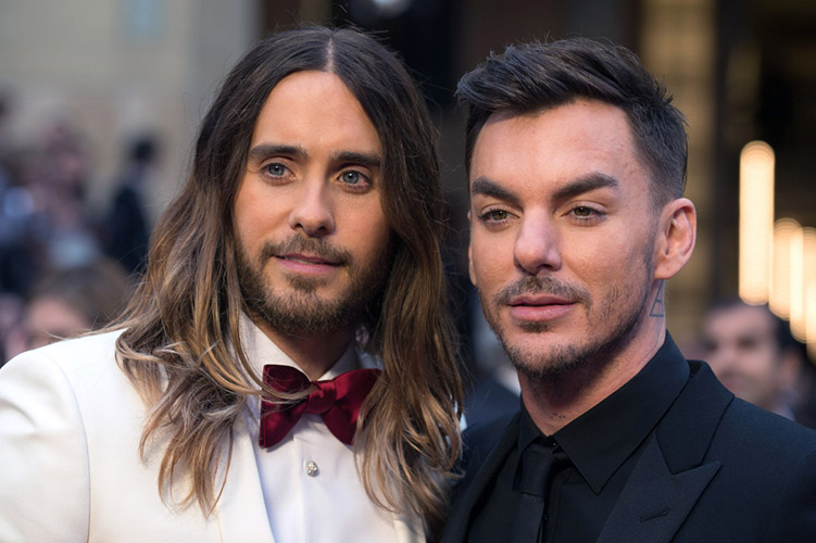 Oscar®-nominated actor, Jared Leto and Shannon Leto arrive for the live ABC Telecast of The 86th Oscars® at the Dolby® Theatre on March 2, 2014 in Hollywood, CA.