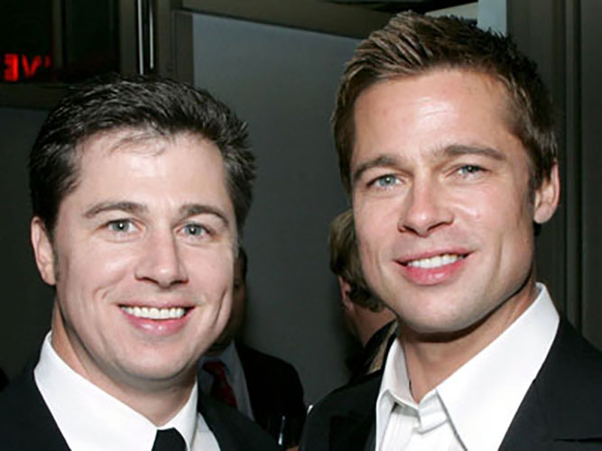 Mandatory Credit: Photo by Alex Berliner / BEI / Rex Features ( 506331x ) Brad Pitt with his brother Doug - digitally manipulated image 'OCEAN'S TWELVE' FILM PREMIERE, LOS ANGELES, AMERICA - 08 DEC 2004