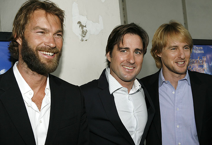 """LOS ANGELES - MAY 10: (L-R): Director Andrew Wilson and his brothers, actors Luke and Owen Wilson attend the premiere of the ThinkFilm movie """"The Wendell Baker Story"""" on May 10, 2007 in Los Angeles, California. (Photo by Vince Bucci/Getty Images) *** Local Caption *** Andrew Wilson;Luke Wilson;Owen Wilson"""