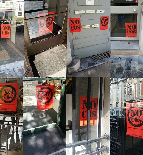 Pas de magasin Cos rue Dansaert