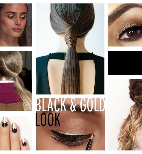 Tutorial: le look Black and Gold de Charleroi