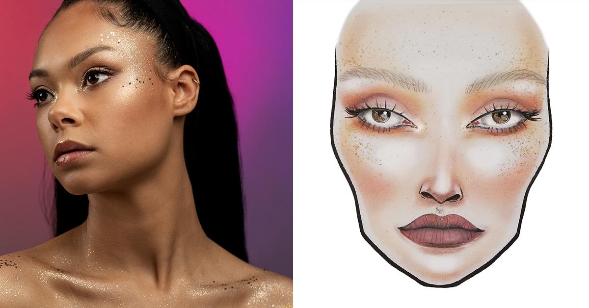 maquillage festival glitter
