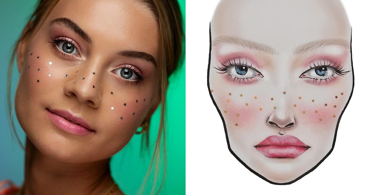 maquillage festival pailettes