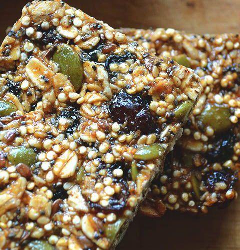 Les barres de quinoa soufflé