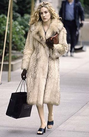 Carrie bradshaw et sa fourrure vintage