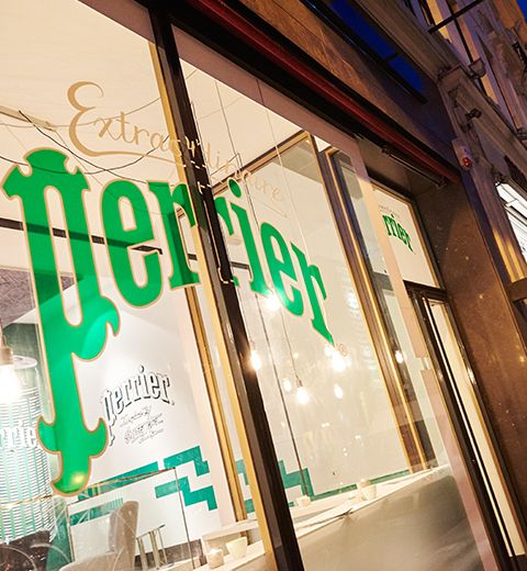 Perrier ouvre un pop-up bar à Bruxelles