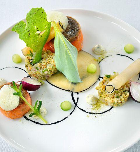 Truite saumonée écossaise– quinoa – radis noir – curry madras
