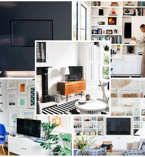 o placer sa t l dans le salon. Black Bedroom Furniture Sets. Home Design Ideas