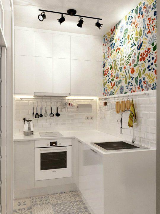 Une petite touche dans une cuisine minimaliste