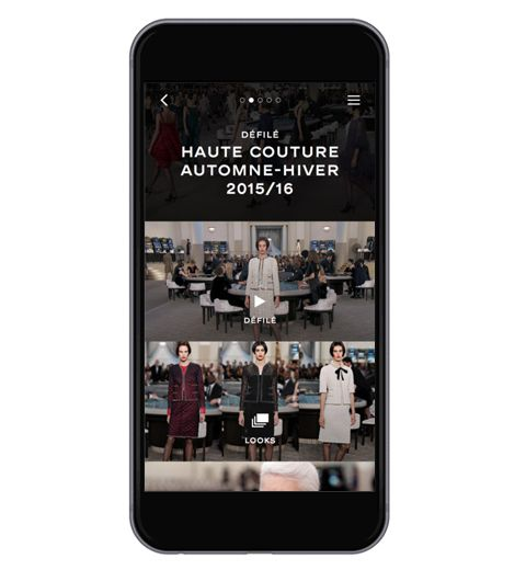 L'application Chanel: regardez le défilé en direct