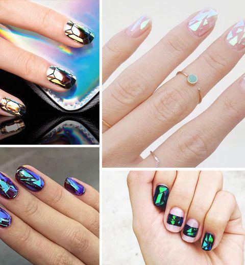 Les Glass Nails, la tendance nail art de cet automne