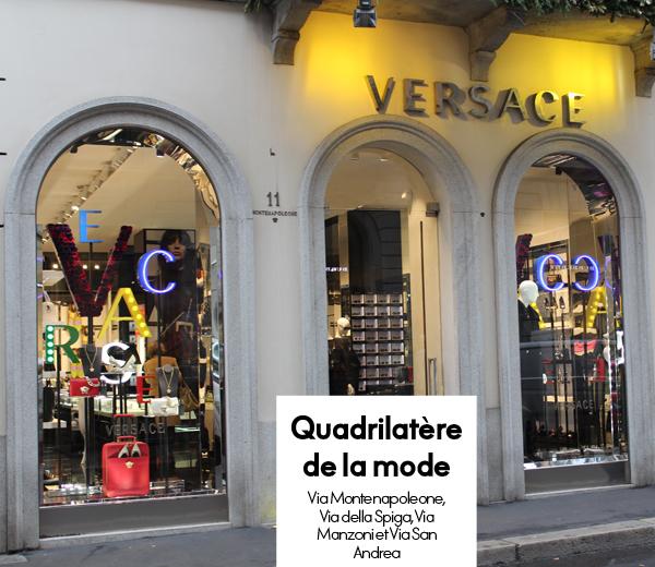 quadrilatère de la mode à Milan