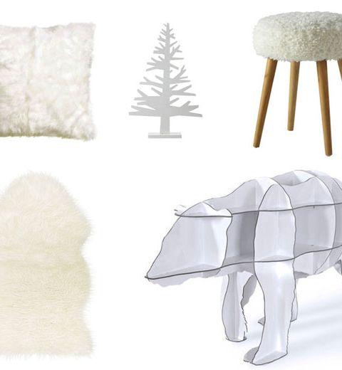 10 objets blancs pour une ambiance ski