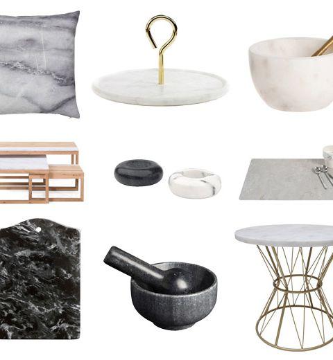 Obsession déco : le marbre !