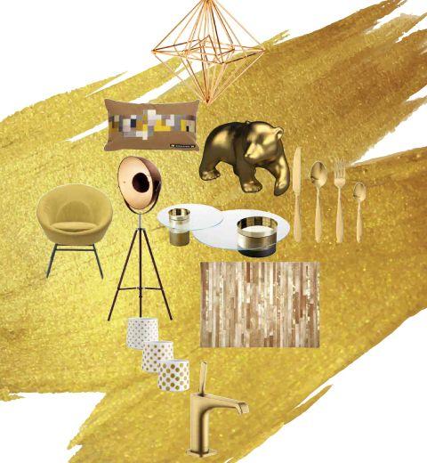 20 objets déco pour adopter l'ocre doré
