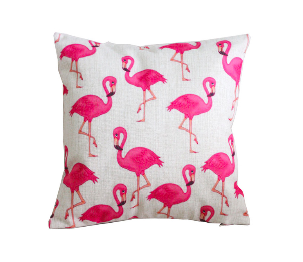 24. Coussin Flamant rose