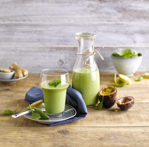 Green Passion Smoothie, une boisson sans gluten et sans lactose