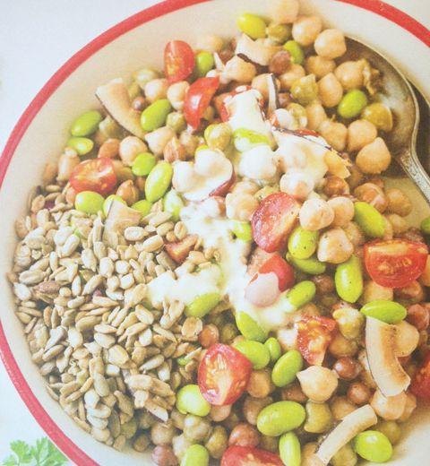 Le lunch : salade de légumineuses et cie