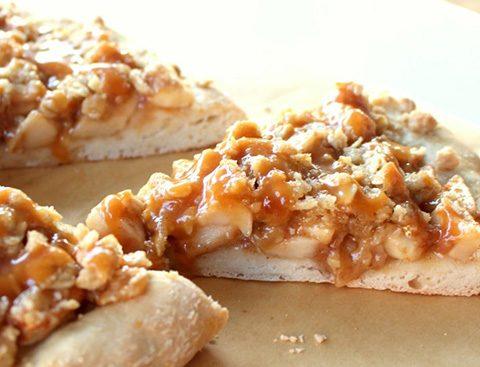 La pizza au beurre de cacahuète
