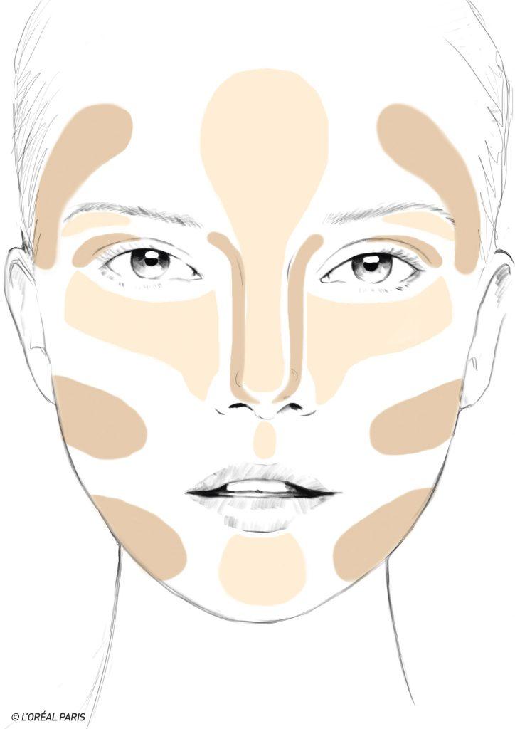 contouring o placer les traits selon votre forme de visage. Black Bedroom Furniture Sets. Home Design Ideas