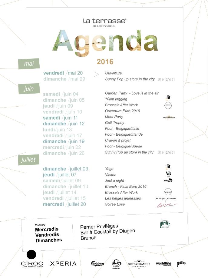 agenda Terrasse Hippodrome