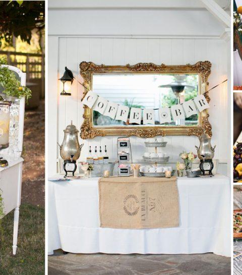 30 inspirations déco pour un buffet de mariage