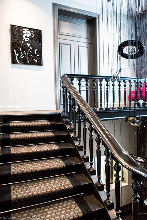 Photo de l'escalier du Brugmann à Bruxelles