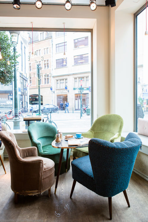 Photo de la déco du café Capitale à Bruxelles