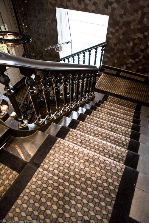Photo de la cage d'escalier du Brugmann à Bruxelles