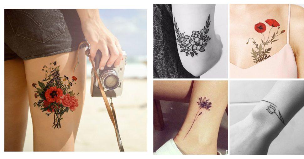 20 tatouages fleuris dont on rêve