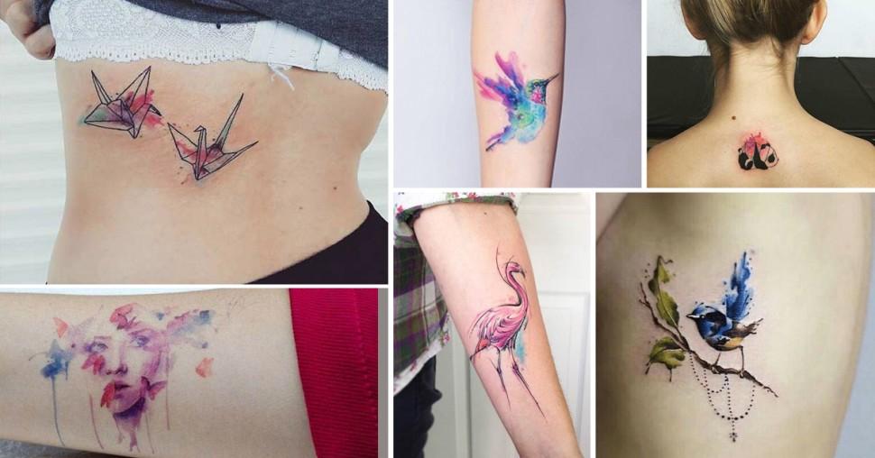 Tendance: les tatouages aquarelle