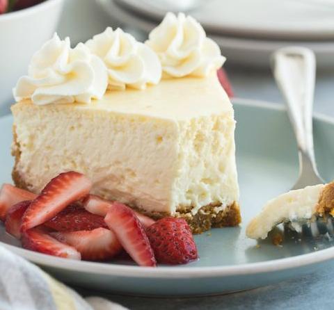 Cheesecake à la vanille et au caramel beurre salé