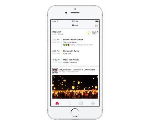 La nouvelle app de Facebook Events