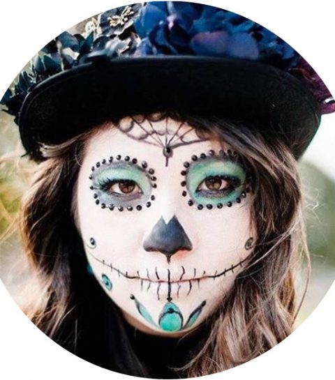 Le crâne mexicain : le make-up tendance d'Halloween