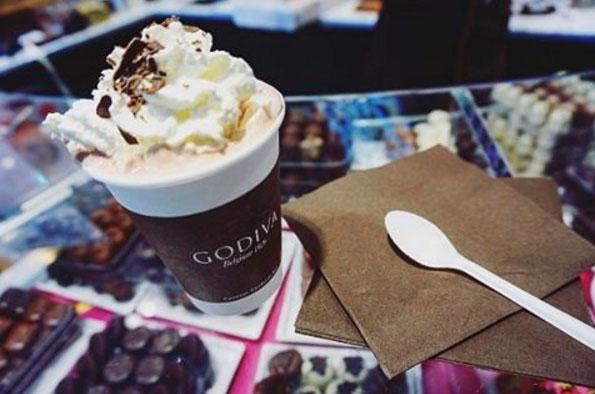 chocolat chaud Bruxelles Godiva