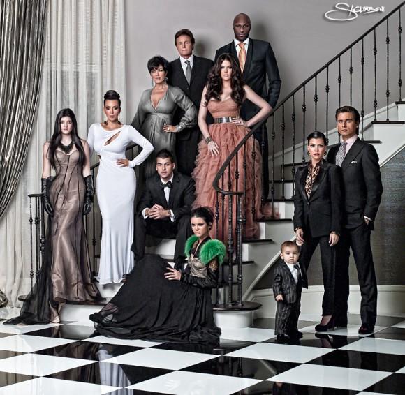Photo de voeux de la famille Kardashian