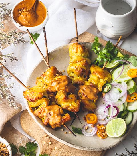 Amuse-bouches poulet satay