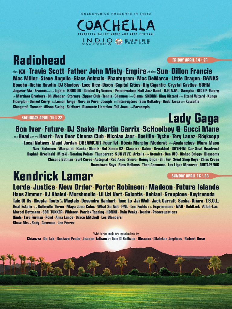 coachella line-up 2017