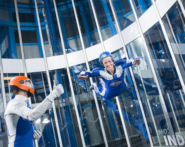 rendez-vous romantique en hiver : indoor skydiving