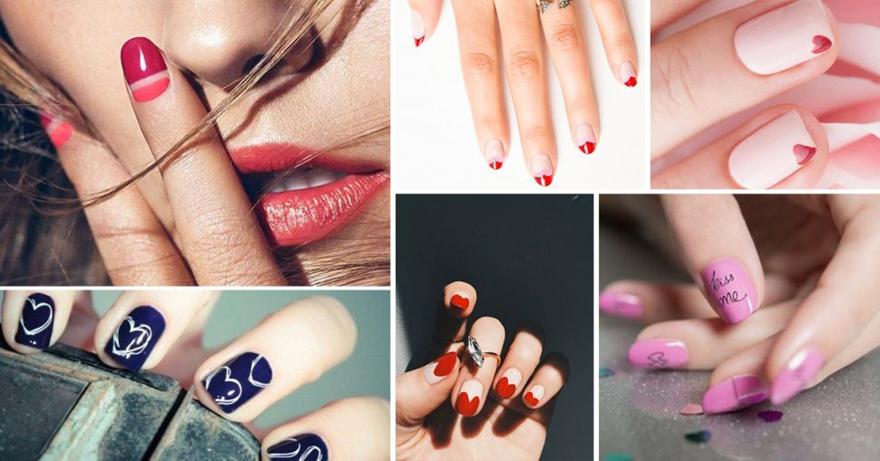 nails art saint-valentin