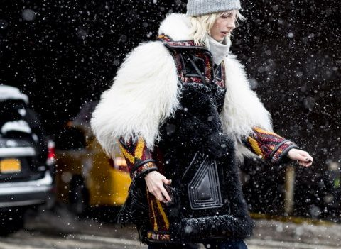 Streetstyle à New York: 50 looks sous la neige