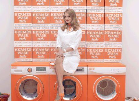 Hermès vous donne rendez-vous à la laverie automatique