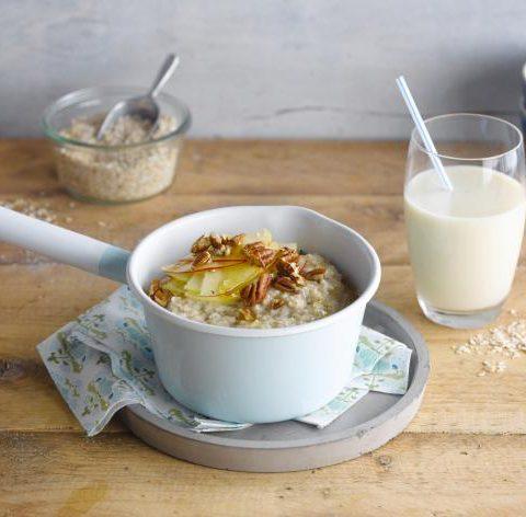 Porridge d'avoine pomme-noix