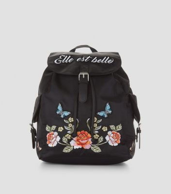 black-elle-est-belle-embroidered-backpack