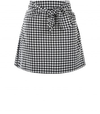 black-gingham-tie-front-mini-skirt